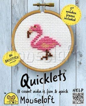 Mouseloft Flamingo Quicklets cross stitch kit